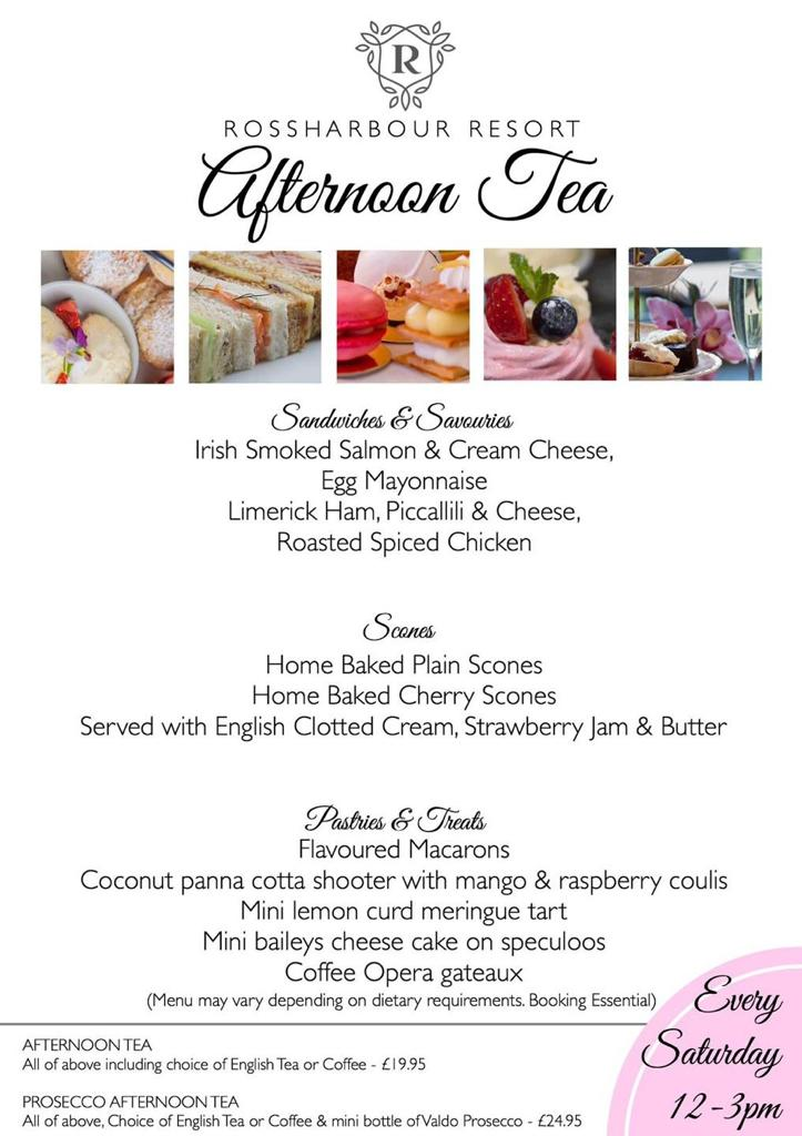 Afternoon Tea menu | Rossharbour Resort