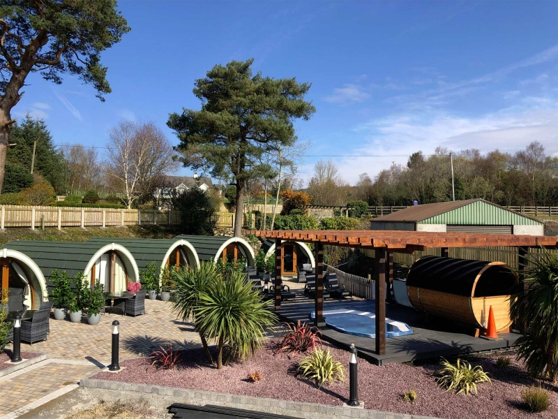 Glamping in Style : Riverside Lodges at Rossharbour Resort
