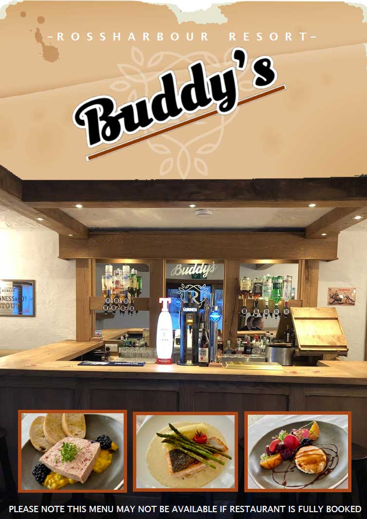 Buddy's Bar | Bar snack menu